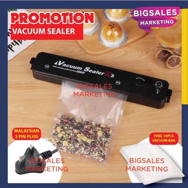 BIGSALES Home Automatic Packing Machine Vacuum Sealer Seal Fresh Food Vacuum Sealer Machine Packer (MALAYSIA PLUG)