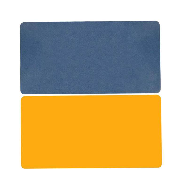 900X450MM Large Mouse Pad Large Computer Desktop Pad Double-sided PU Multi-function Desk Pad (Royal Blue plus Yellow) Malaysia