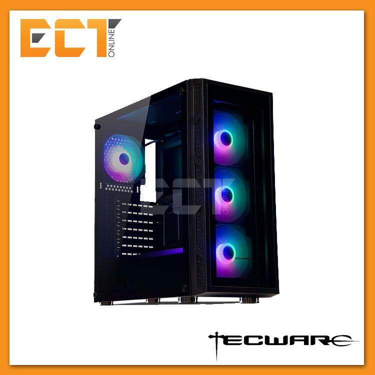 Tecware VEGA Tempered Glass ARGB ATX Case (4 x Arc Series F3 Fans) Malaysia
