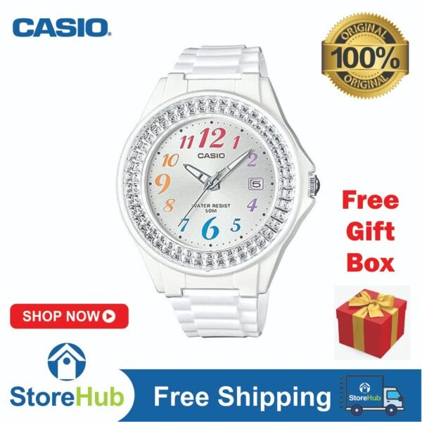 GET IT NOW! CASIO LX-500H-7BV women analog white resin band elegent watch Malaysia