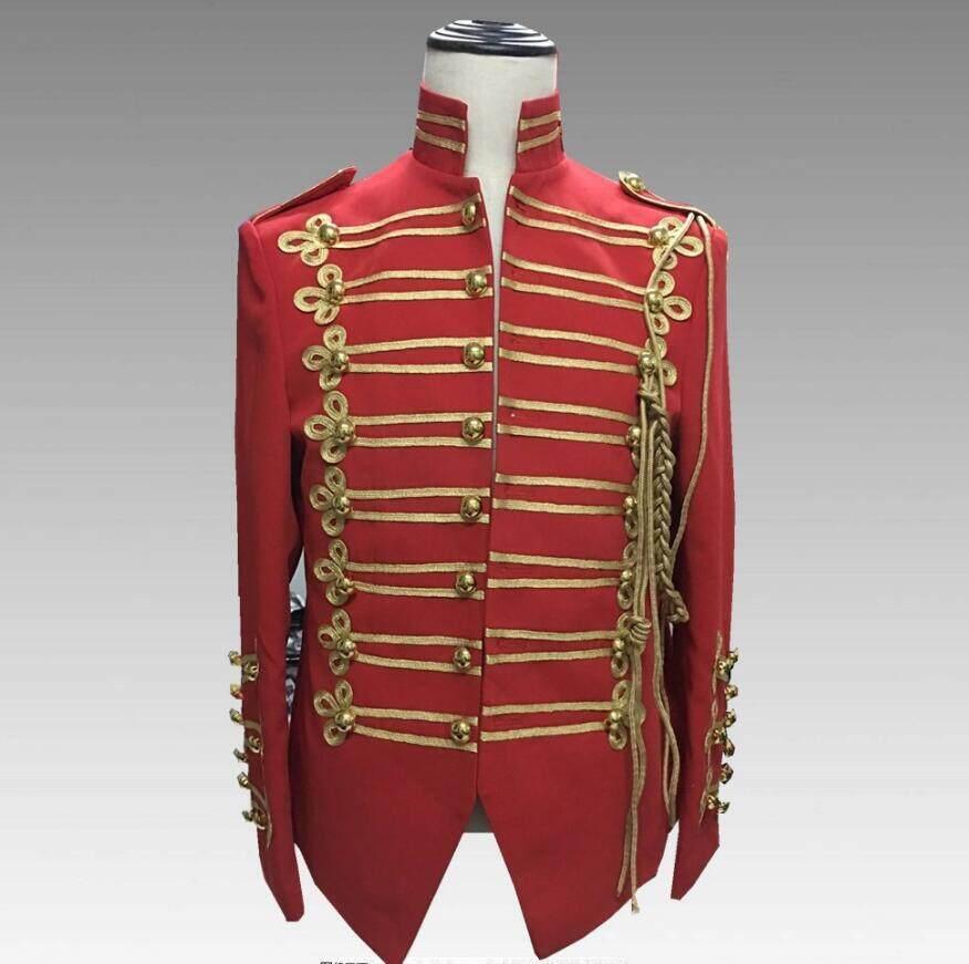 2018 Men clothing BIGBANG Star performance costumes Michael Jackson Court Suit Plus size DS Punk Band rock Costume
