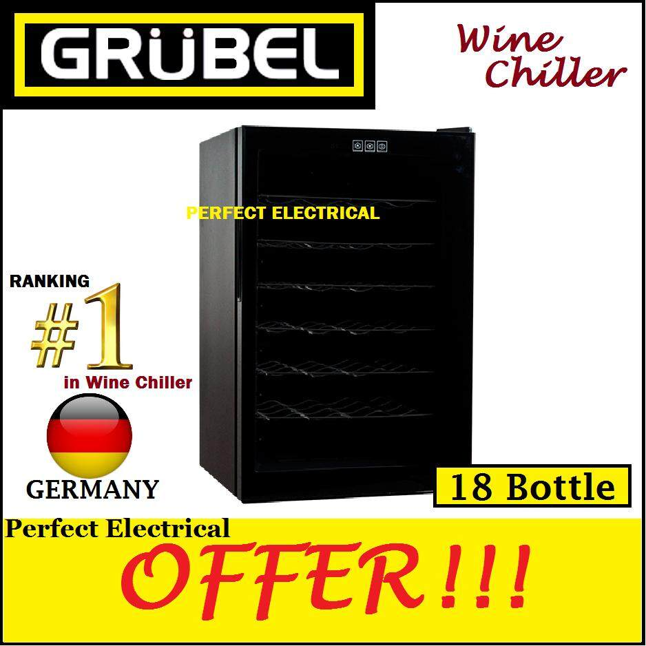 Grubel Germany Wine Cellar Gwc-Tp18bk (18 Bottles) Better Than Tuskani / Pacifica / Liebherr / Lebensstil / Fagor / Belling / Leben / Hisense By Perfect Electrical Store.