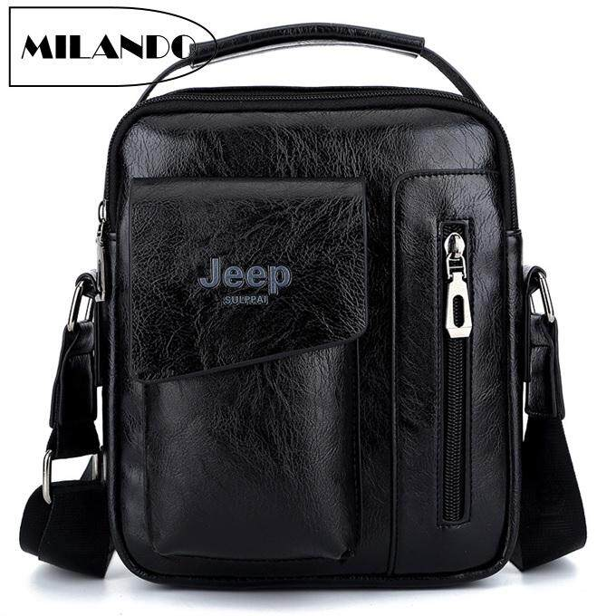 fd3deae7a9 JEEP Men PU Leather Sling Crossbody Shoulder Travel Bag (Type 5)