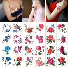Combo 52 hình xăm dán không thấm nước, lâu trôi, họa tiết hoa hồng cho nữ – INTL