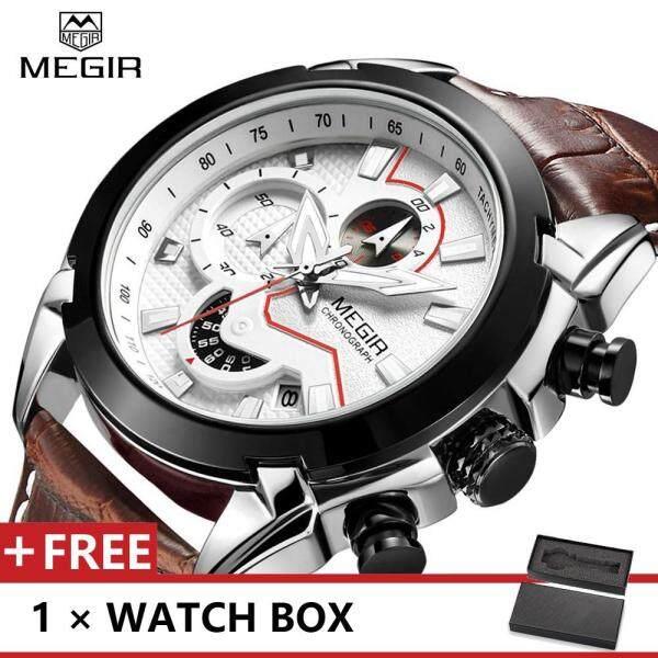 MEGIR 2065 Top Luxury Brand Watch For Man Fashion Sports Men Quartz Watches Trend Wristwatch Gift For Male jam tangan lelaki Malaysia