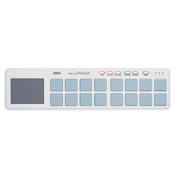 KORG classic USB MIDI controller nanoPAD2 WH 16-velocity white-velocity music production DTM Compact design makes it easy to carry. Includes a software license to start immediately Malaysia