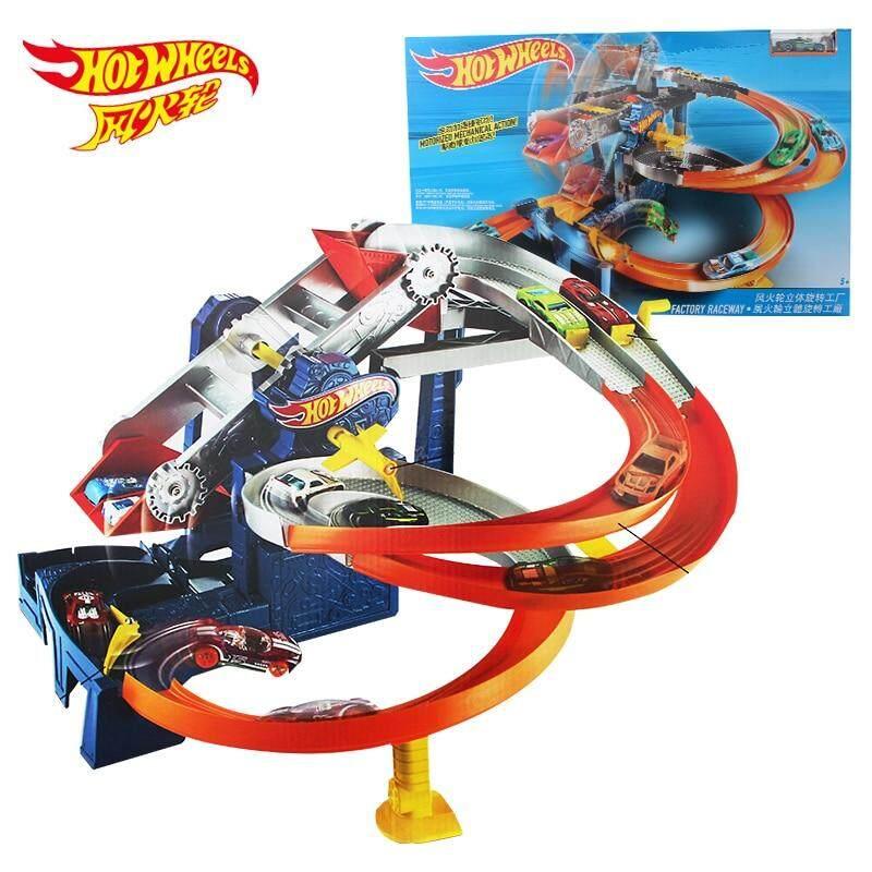 Popular Toys Hotwheels Rebound Raceway Double Athletics Track Racing Toy Hot Wheels Boy Educational Car Toy Birthday Christmas Gift Fdf27 Hot Wheels
