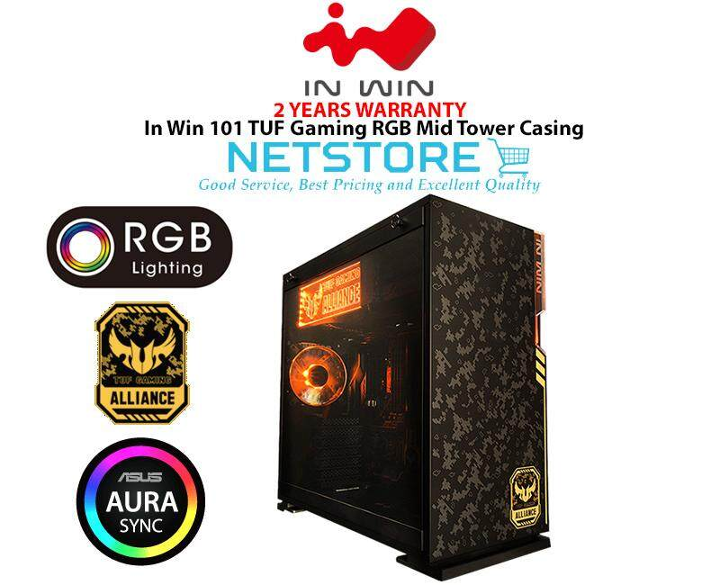 In Win 101 TUF Gaming RGB Mid Tower Chassis - ASUS TUF Alliance Design ( INWIN 101-TUF ) Malaysia