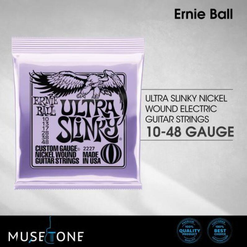 Ernie Ball 2227 Ultra Slinky Nickel Wound Electric Guitar Strings 10-48 Malaysia