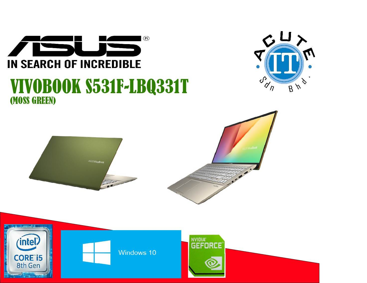 Asus Vivobook S15 S531F-LBQ331T (Moss Green) Malaysia