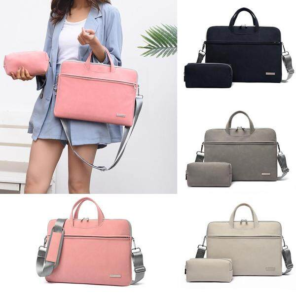 Women PU Leather Laptop Bag Notebook Case Briefcase bags shoulder Mouse Bag for Macbook Air 13.3 14 15.6 inch