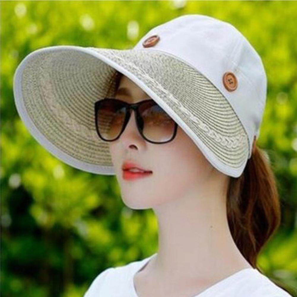 52bd8966 ElecyFor Women Foldable Wide Brim Sun Visor Cap For Cycling Hiking Summer  Adjustable Outdoor Sports Wide
