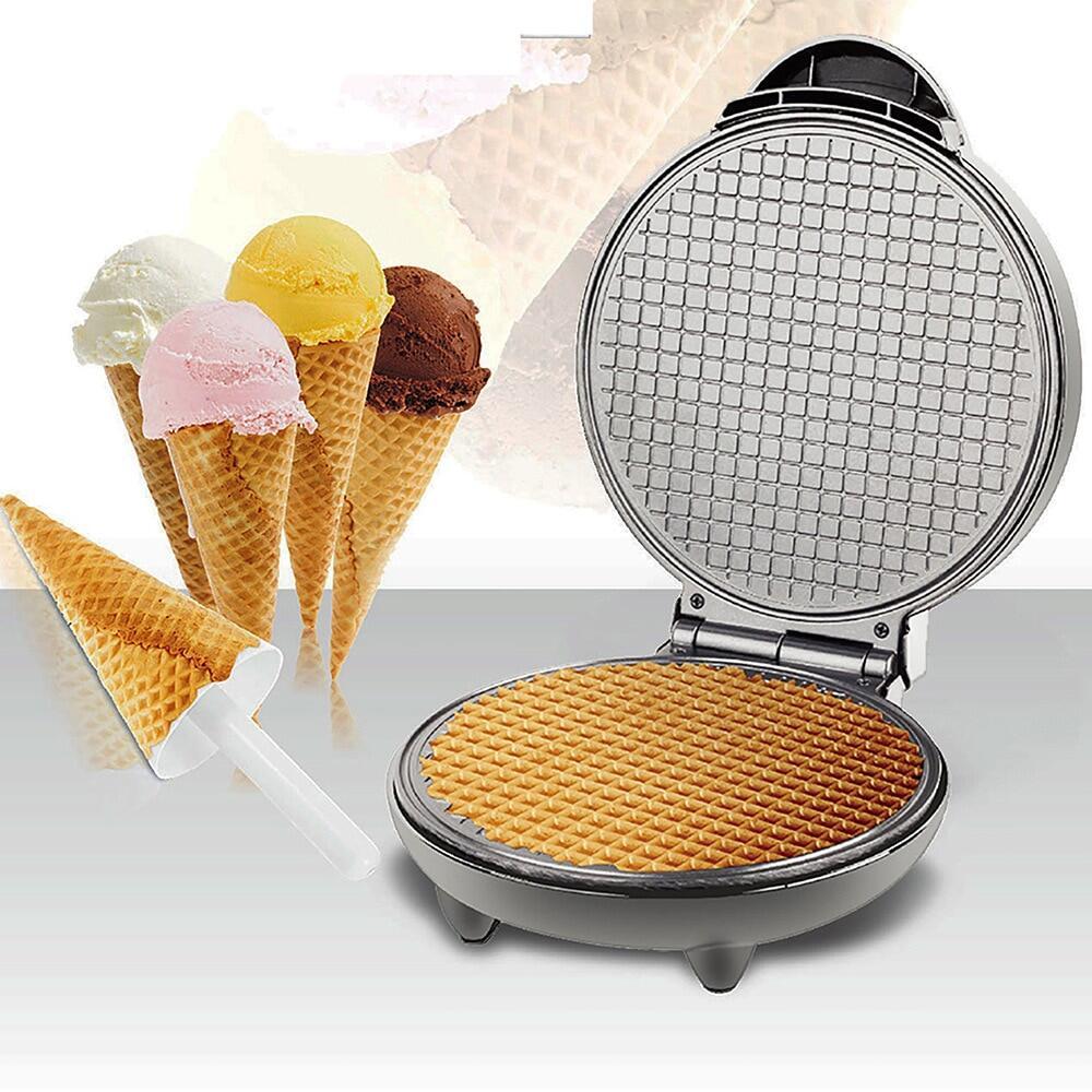 , Chảo Nướng Bánh Crepe Sắt Tráng Trứng Ốp La Lò Nướng Bánh Quế Máy Làm Kem Ốc Quế Tự Làm, Phích Cắm EU