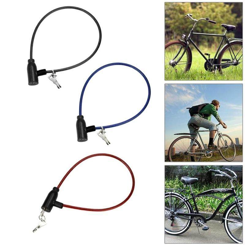 Steel Chain With 2 Keys Cable Anti-Theft Scooter Safety Bicycle Lock Cycling