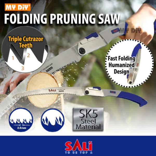 MYDIY Online2u - SALI 27cm Folding Pruning Saw SK5 Steel 7tpi Hand Saw Gergaji Pokok Dahan Foldable Saw Folding Hand Saw / Foldable Garden Saw