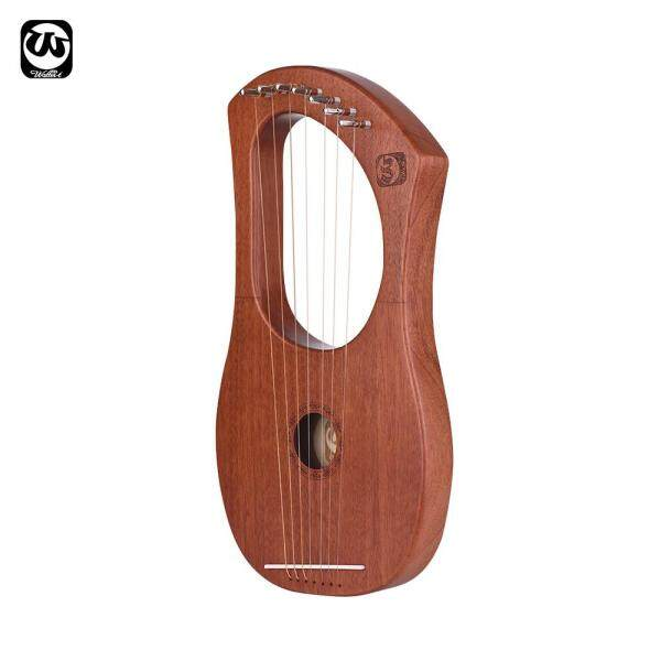 Walter.t 7-String Wooden Lyre Harp Metal Strings Mahogany Wood Topboard & Backboard String Instrument with Carry Bag WH05 Malaysia