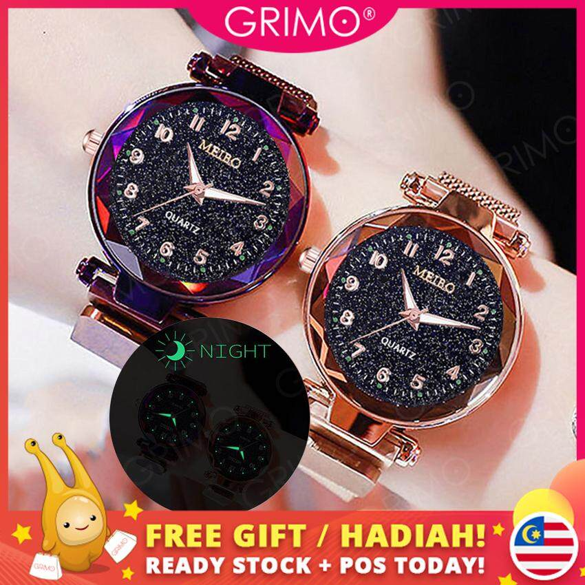 [BDAY SALE] GRIMO Malaysia - Visi Magnet Watch Magnetic Strap Women Casual Jam Tangan Girl Lady Dinner Perempuan Women Ladies Girls New September 2019 ac11124 Malaysia