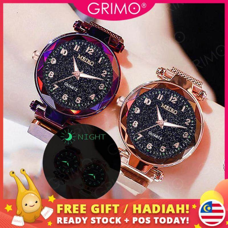 GRIMO Malaysia - Visi Magnet Watch Magnetic Strap Women Casual Jam Tangan Girl Lady Dinner Perempuan Women Ladies Girls New September 2019 ac11124 Malaysia