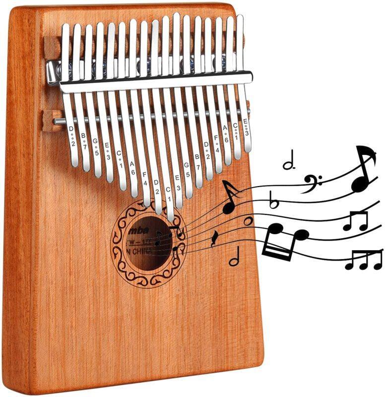 Kalimba Phiên 17-Tone Người Mới Bắt Đầu Với Ngón Tay Cái Đàn Piano Ngón Tay Piano Cụ Peach Gỗ