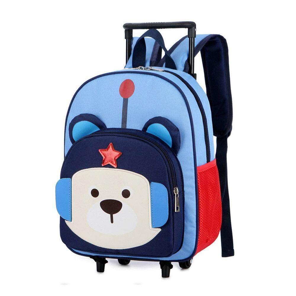 Giá bán W & R 4 Bánh Hoạt Hình Túi cho xe đẩy cặp đi học Ba lô mẫu giáo cặp đi học cho Trẻ Em (Kích Thước: 26*12*36)