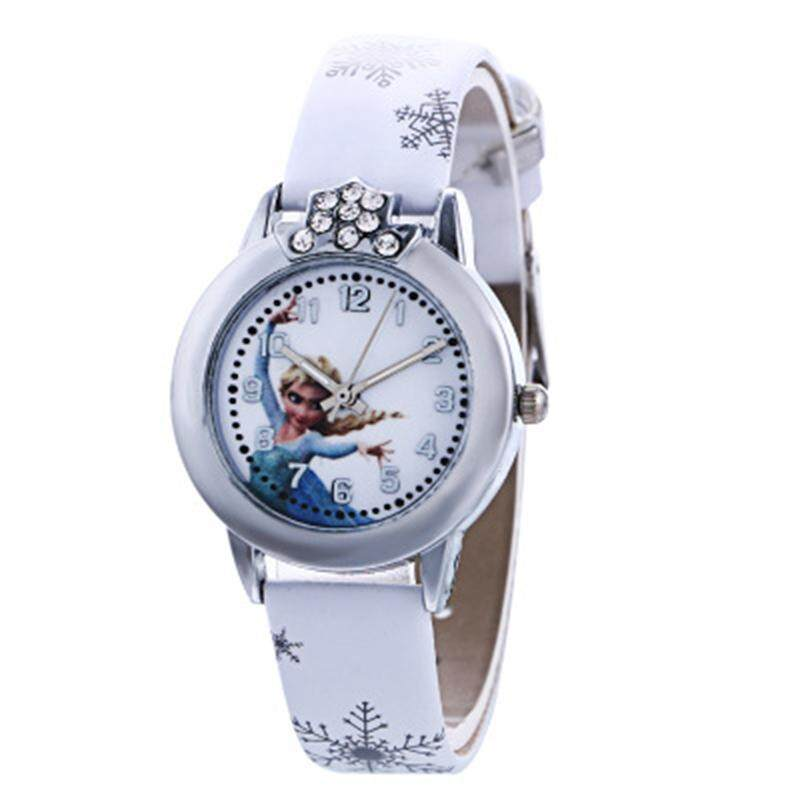 Cartoon Princess Pattern Dial Quartz Girl's Wrist Watch with PU Leather Strap Sport Casual Watches Malaysia