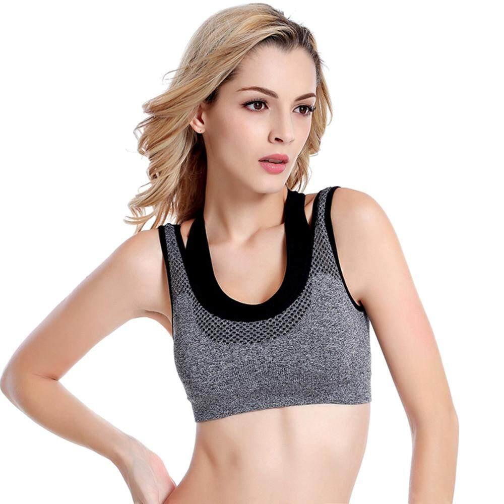 Womens High-Strength Sports Yoga Running Bra High Impact Pocket Yoga Bras By Jingmeihao.