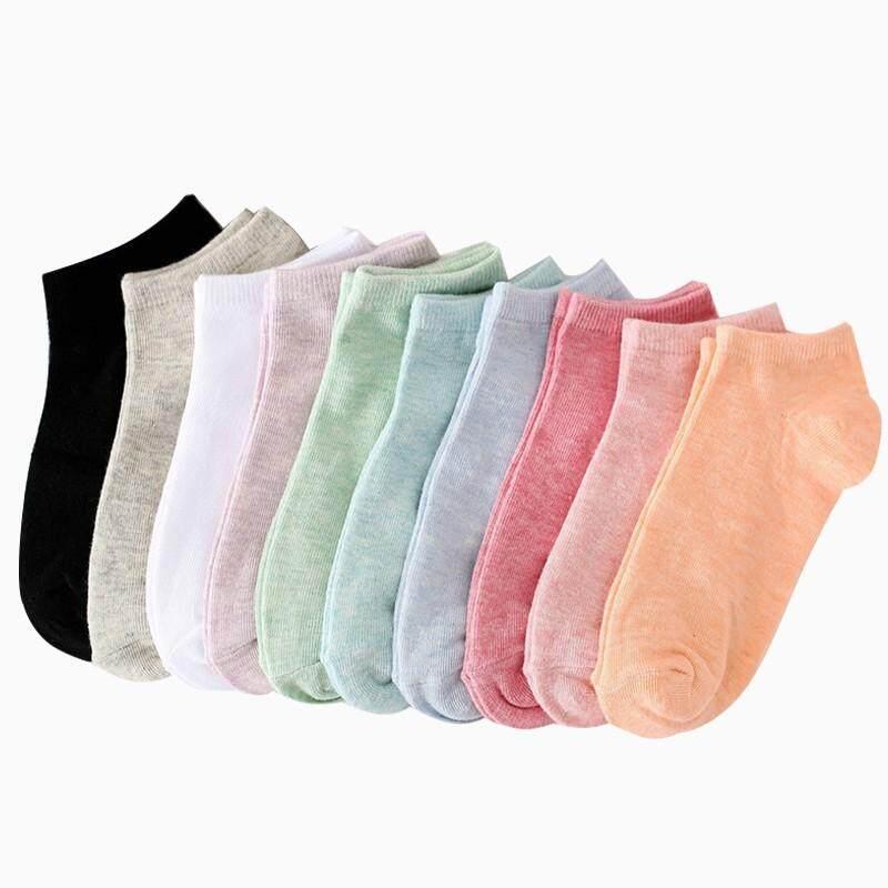 10 Pairs Women All-Match Casual Cotton Short Socks By Joyin Technology.