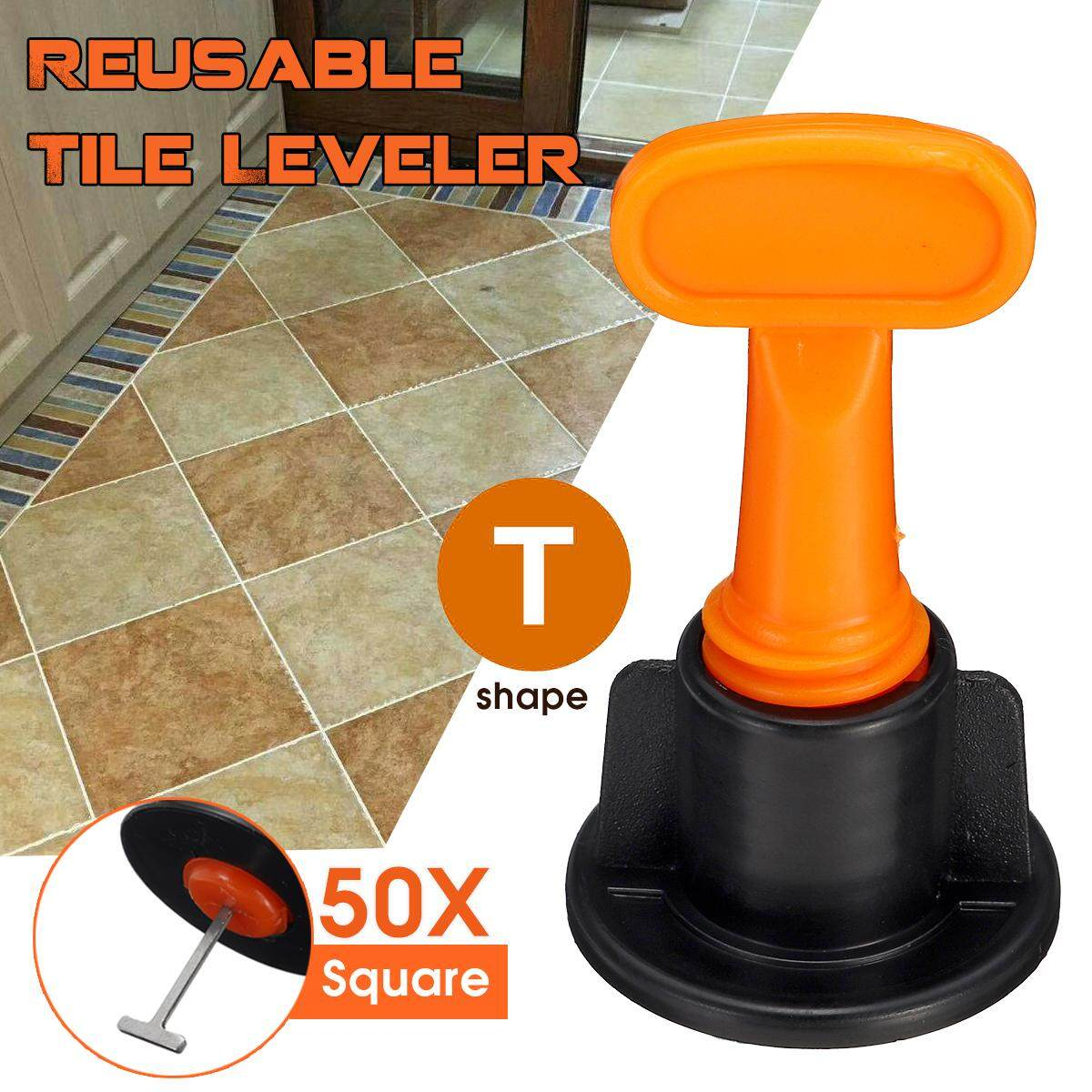 50pcs Ceramic Leveler Floor Wall Construction Tool Reusable Tile Leveling System