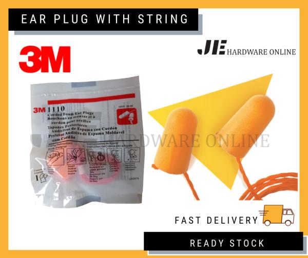 3M Foam Earplugs With String 1110, Welding earplugs