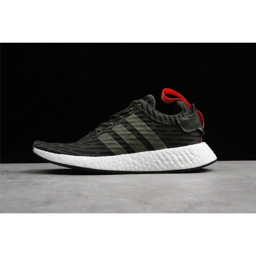 ยี่ห้อนี้ดีไหม  ร้อยเอ็ด Adidas NMD R2 Boost Running รองเท้า BY2245 BY2499 BY2500