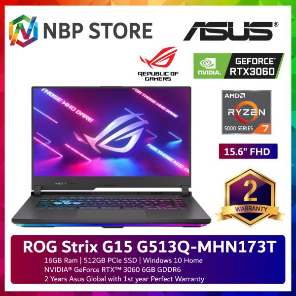 Asus ROG Strix G15 G513Q-MHN173T 15.6 FHD 144Hz Gaming Laptop ( Ryzen 7 5800H, 16GB, 512GB SSD, RTX3060 6GB, W10 ) Malaysia