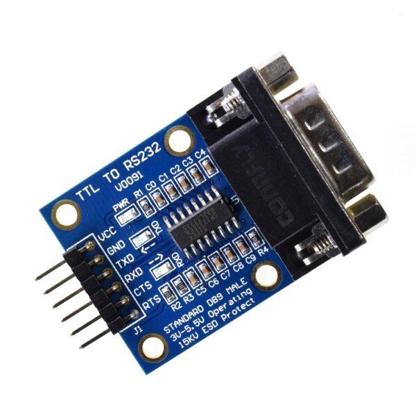 5PCS RS232 Serial Port To TTL Converter Module max3232 5V/3.3V with Jump Cables Wholesale Price