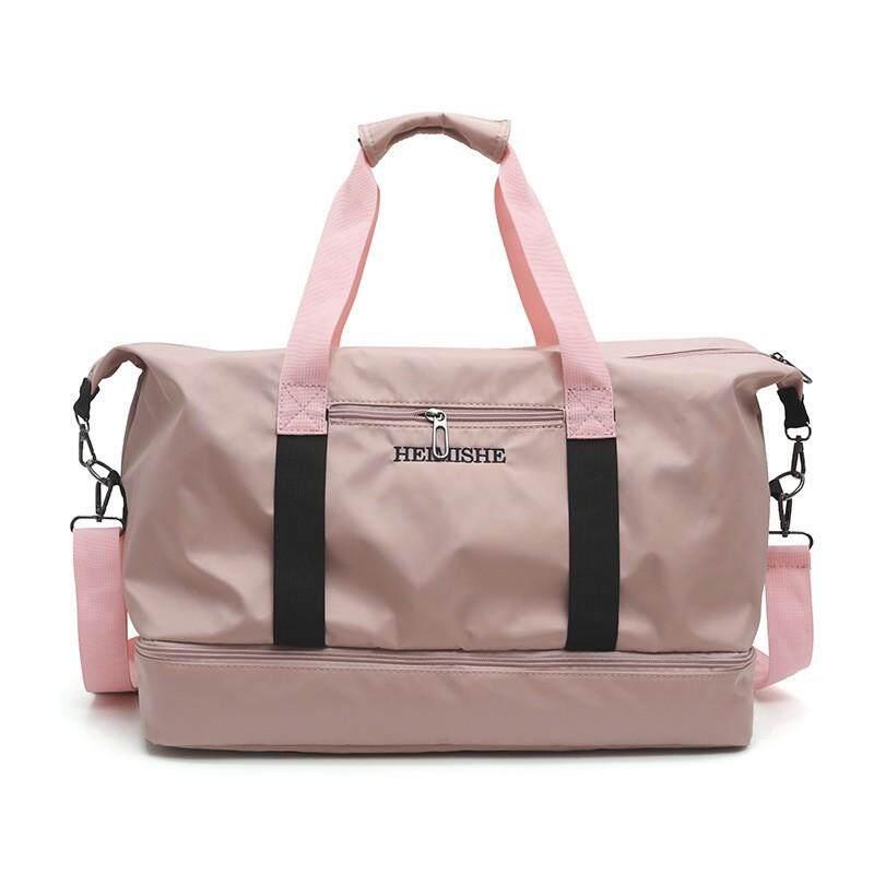Short-distance women handbags Korean version travel bags large capacity portable men one-shoulder bags sports fitness package tide