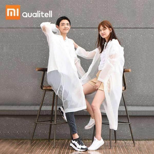 Xiaomi Qualitell Jas Hujan Dewasa Lelaki Wanita Kalis Air Kalis Air Kalis Air Unisex Perjalanan Berkhemah Mendaki Pakaian Hujan Seragam Mesti Hujan Kot