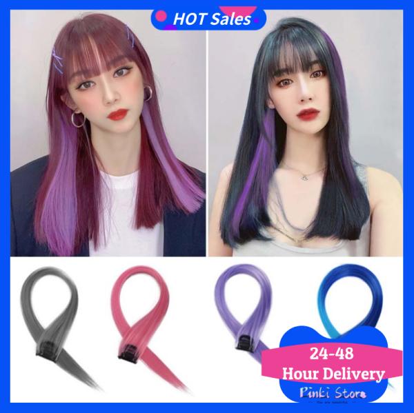 3 Lọn tóc nối Ombre thẳng có màu làm từ sợi tổng hợp - INTL