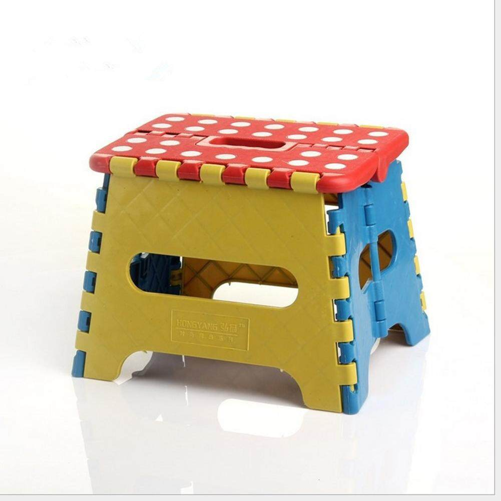 Folding Step Stool Folding Plastic Stool Portable Anti Slip Footstool for Kids and Adults with Carry Handle for Home Kitchen and Workplace