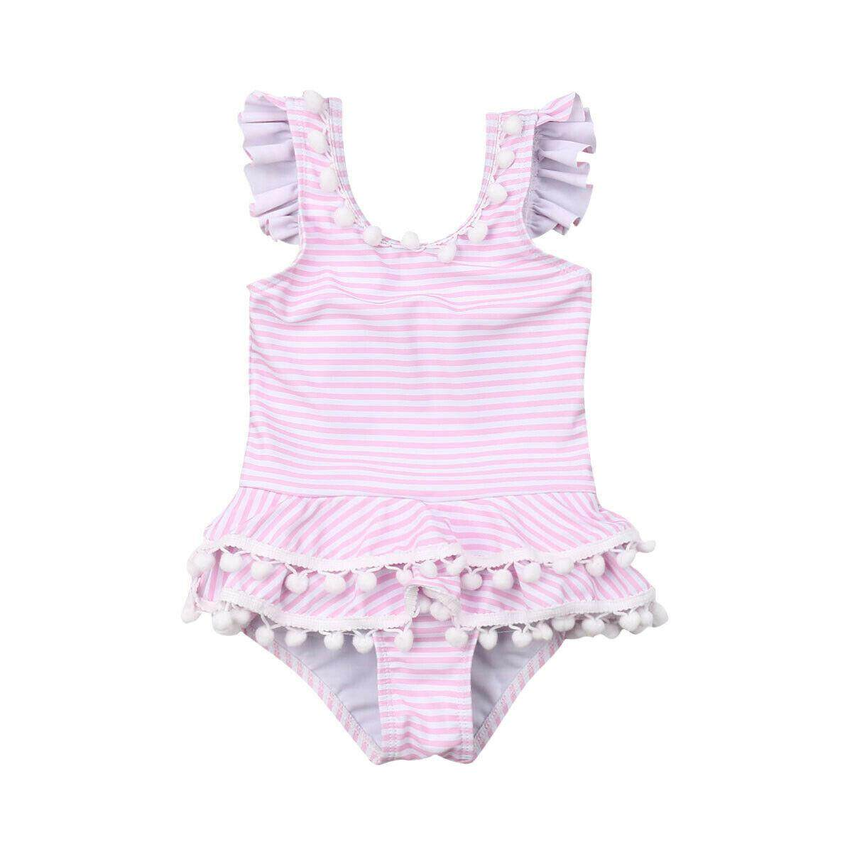 162d983557d03 Newborn Kids Baby Girls Striped Bikini Swimwear Swimsuit Bathing Suit  Beachwear