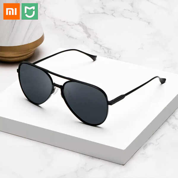 Giá bán Xiaomi Mijia Aviator Sunglasses Gray Lens UV400 Block Ultraviolet Rays Protect Eyes Anti-glare Aluminum-magnesium Alloy Ultra-light Frame For Man And Woman Glasses