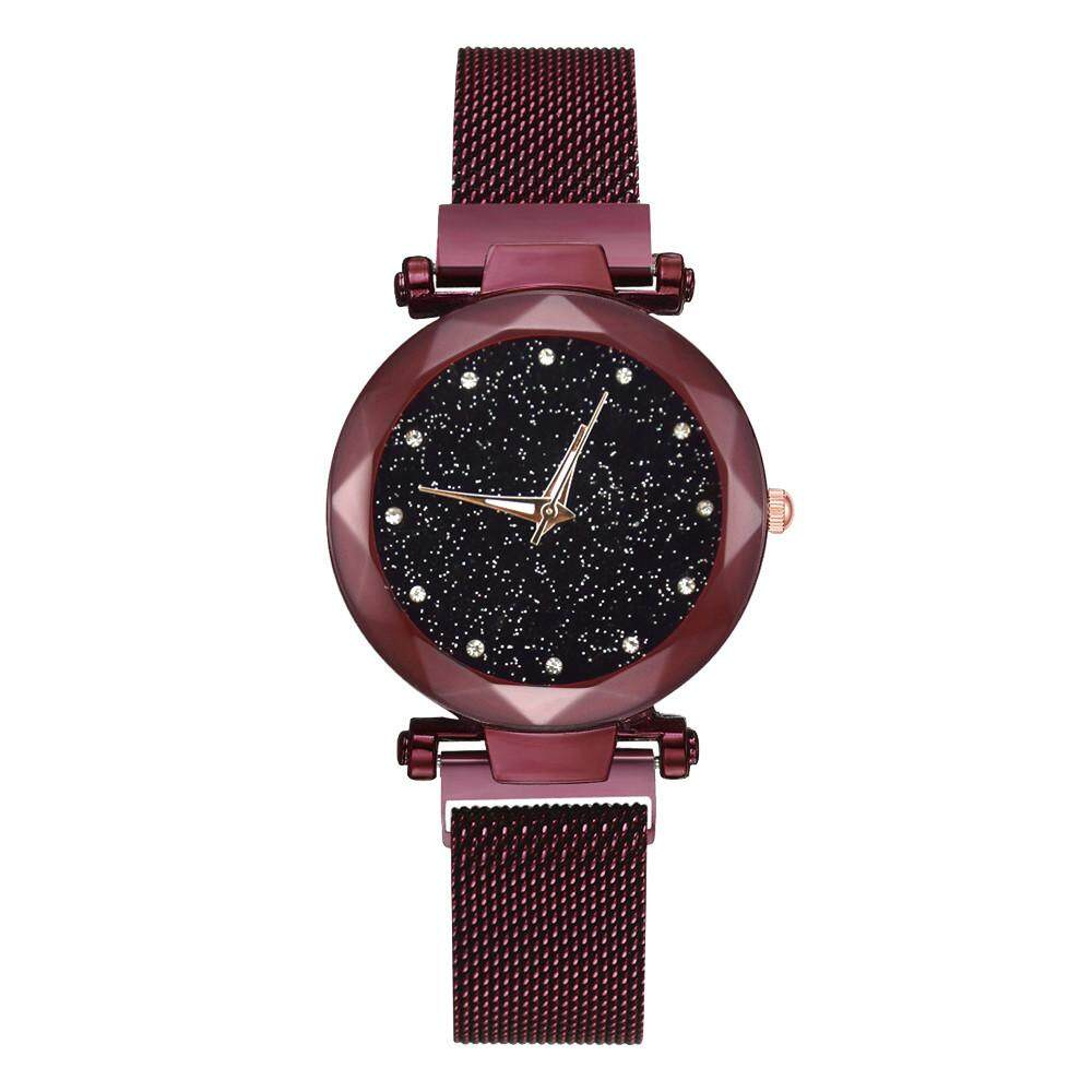 Women Fashion Watches Magnetic Attraction Wrist Watch Steel Strap Quartz Casual Watches Malaysia