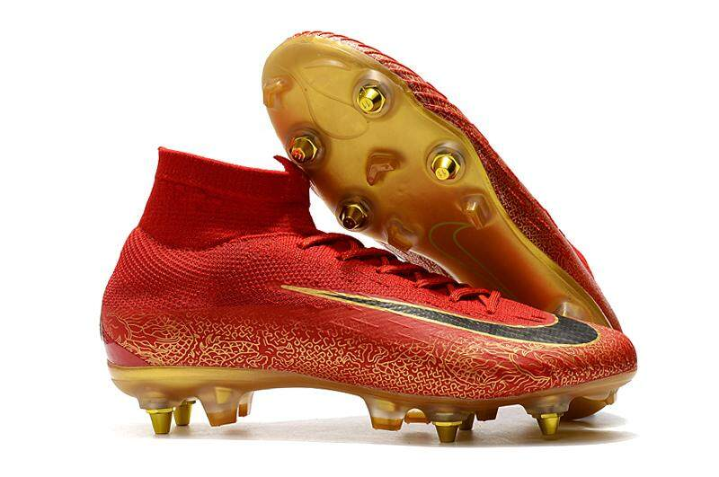 4b9294b01 New Nike Mercurial Superfly VI Elite CR7 SG AC soccer shoes men football  shoes