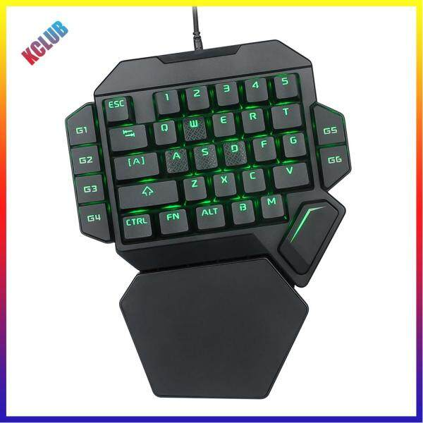 K50 One-Handed Mechanical Wired Gaming Keyboard RGB Backlit 35 Keys for PC Singapore