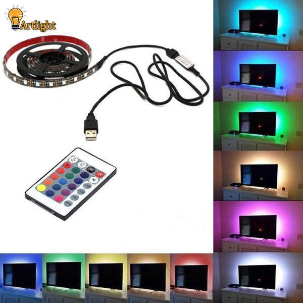 Đèn Tâm Trạng USB 5050, Dải Đèn LED Nhiều Màu RGB Đèn Nền TV Điều Khiển Từ Xa 24 Phím