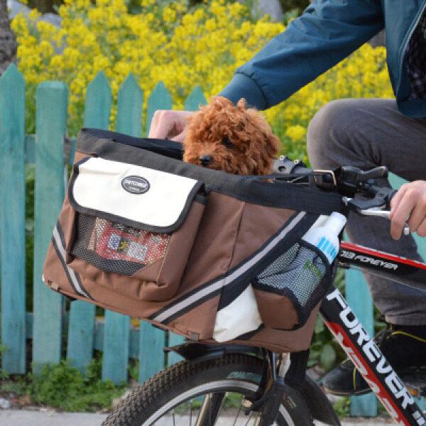 Pet xe đạp Túi du lịch Giỏ xe mèo chó Túi đi xe đạp Túi-Nâu