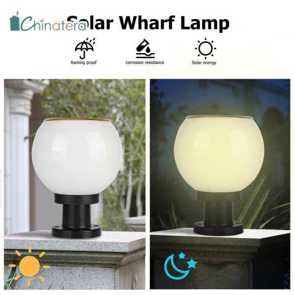 [Chinatera] Đèn LED Năng Lượng Mặt Trời Không Thấm Nước Đèn Chiếu Sáng Sân Vườn Ngoài Trời Đèn Trụ