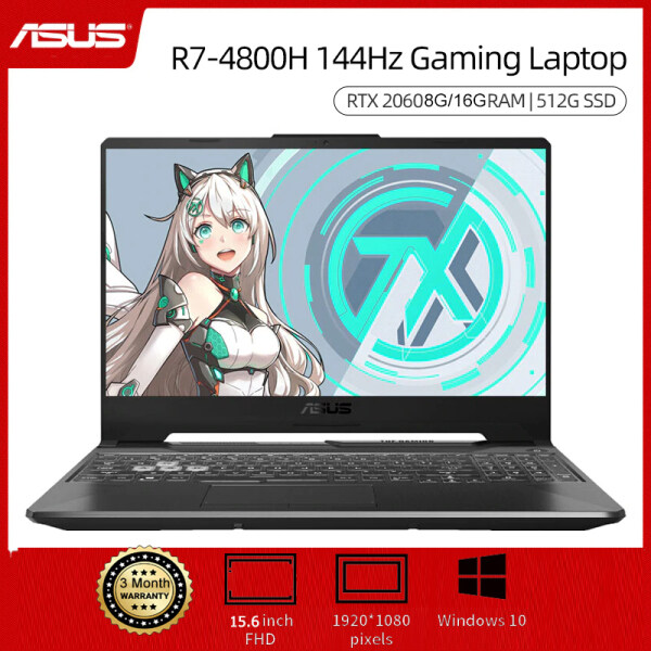 ASUS FA506 15.6 inch Gaming Laptop AMD R7 4800H 8G/16G RAM 512G SSD 6 Cores 7nm RTX2060 144Hz Notebook Malaysia