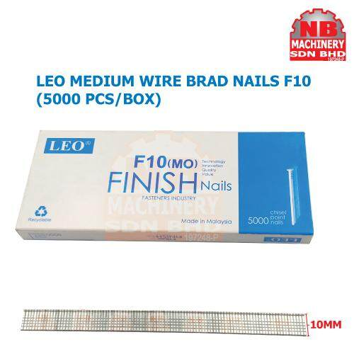 LEO(5000pcs/Box) F10/F15/F20/F25/F30/F32 Brad Nail, Straight Nail Wood working Furniture Finishing For Air Nailer