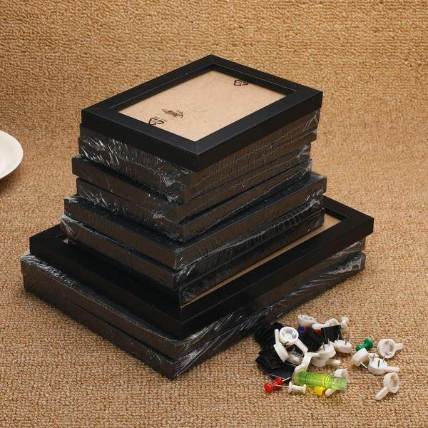 Wall Hanging Family Photo Frame Set White/Black Wall Decor Display 11Pcs Collage Picture