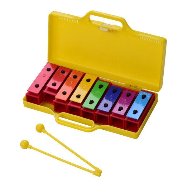 Bộ gõ Xylophone Glockenspiel đầy màu sắc 8 nốt Nhạc cụ Đồ chơi Quà tặng cho trẻ em trẻ em Với hộp nhựa đựng mallets