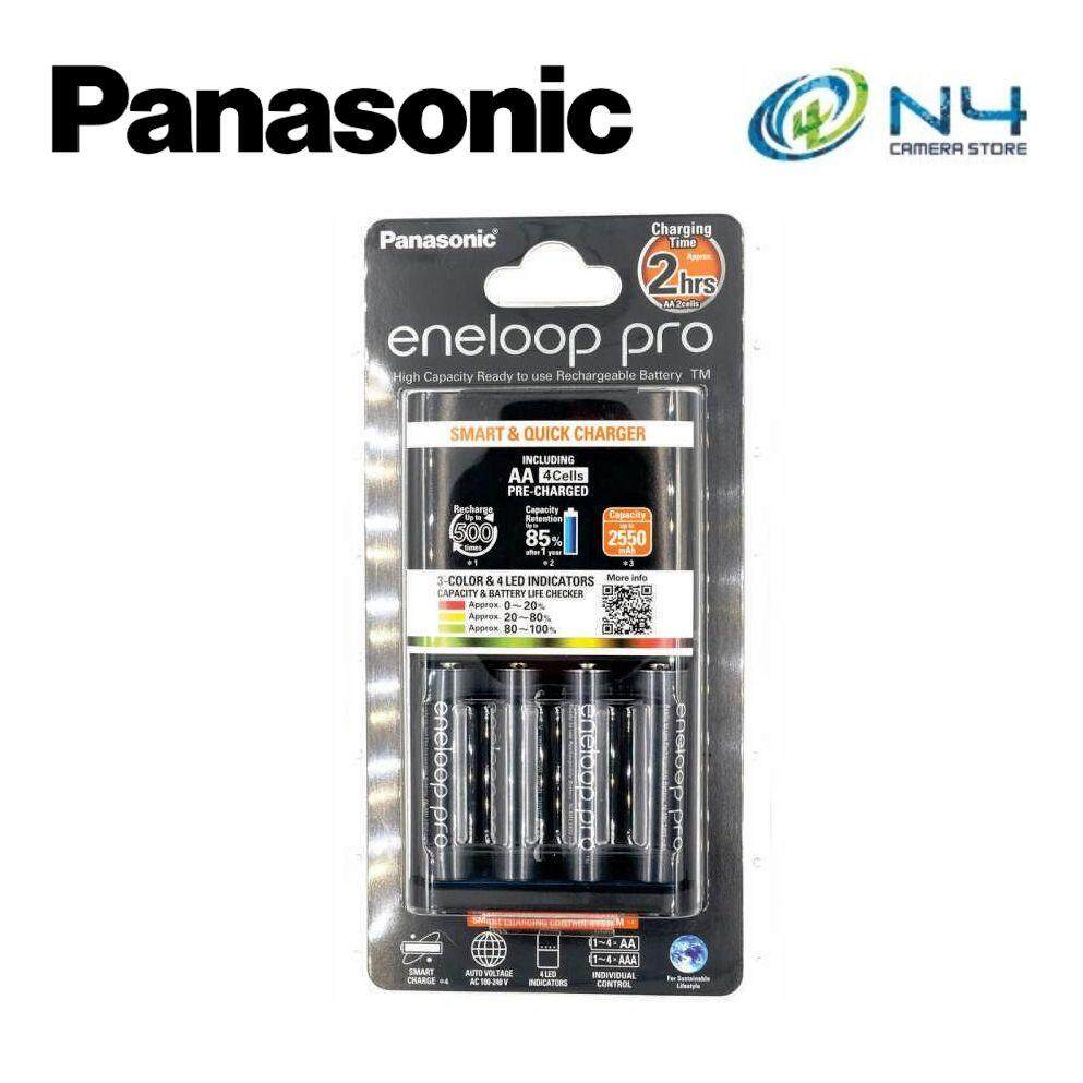 Panasonic Eneloop Pro Aa Battery X 4pcs (2550mah) + Quick Charger By N4 Camera Store.