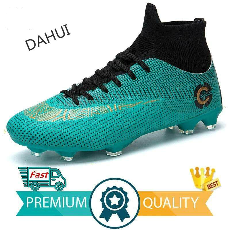 2287d4877 Adults Men's Outdoor Soccer Cleats Shoes High Top TF/FG Football Boots  Training Sports Sneakers